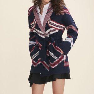 Maje reversible jacquard knit cardigan